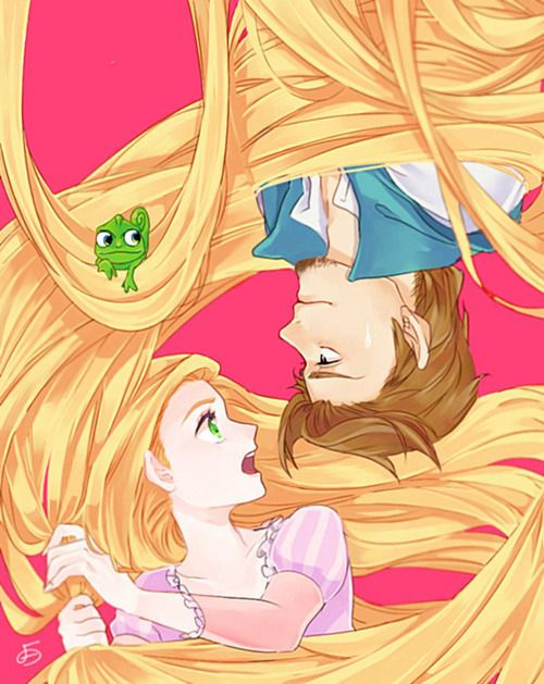 Tangled is so cute anime-style!