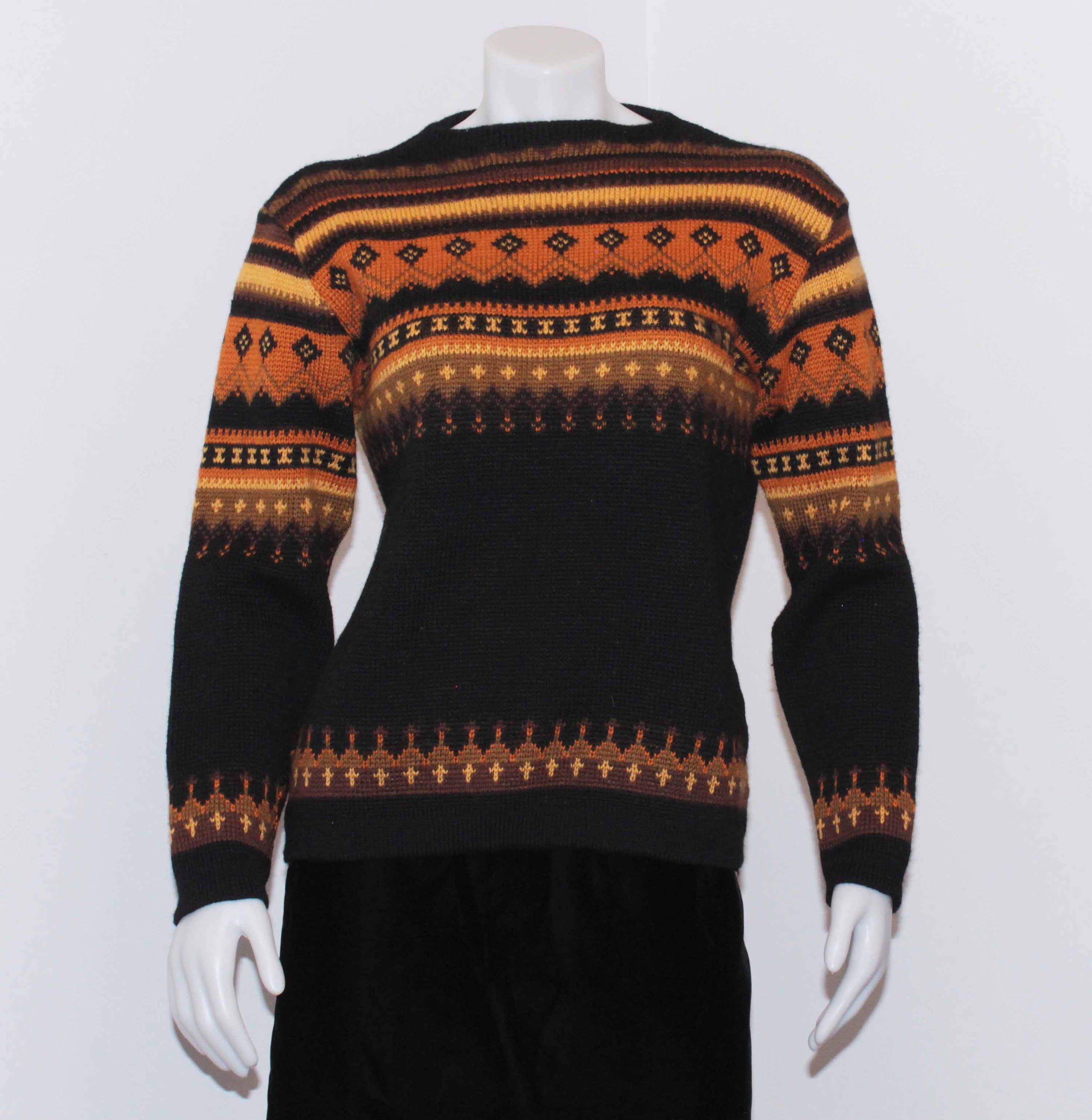 Vintage Norvik 100 Wool Ski Sweater, shipping included