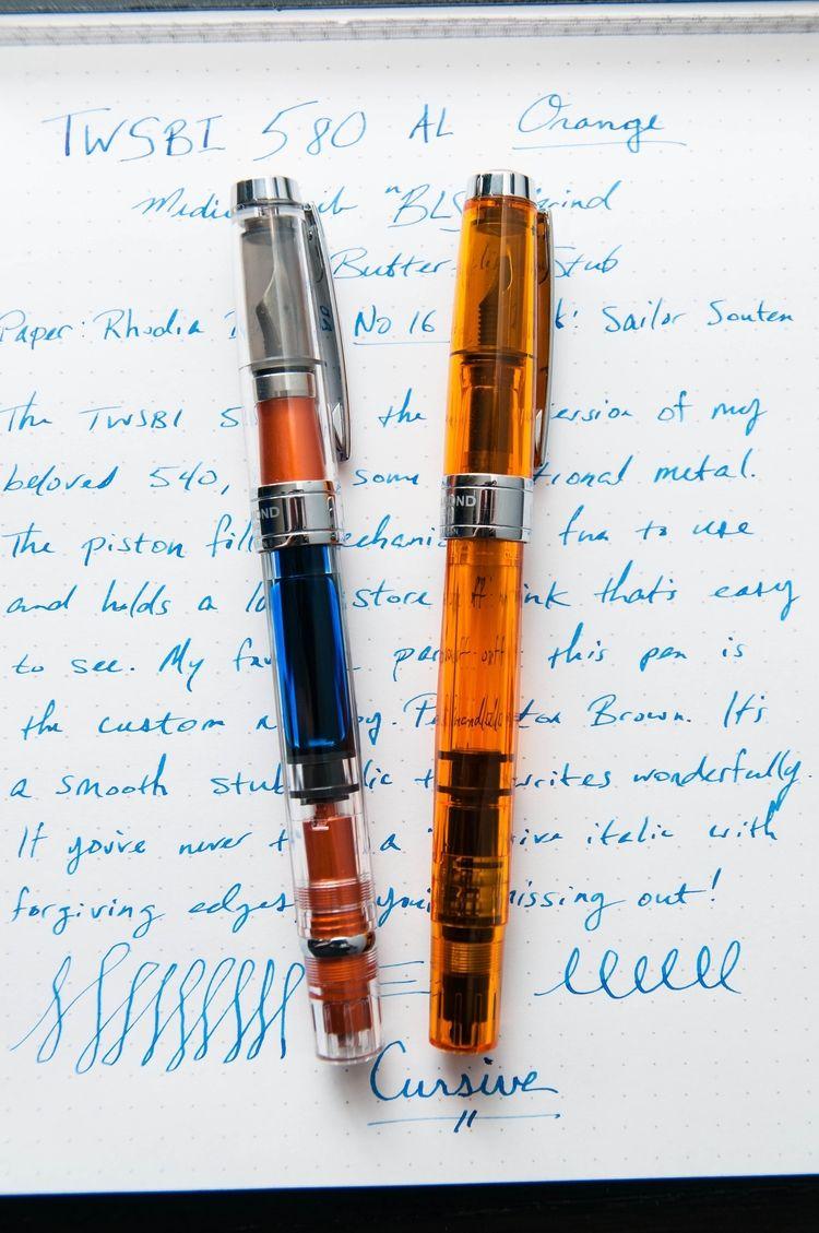 The Twsbi 580 Al Orange With A Twist The Pen Addict Fountain