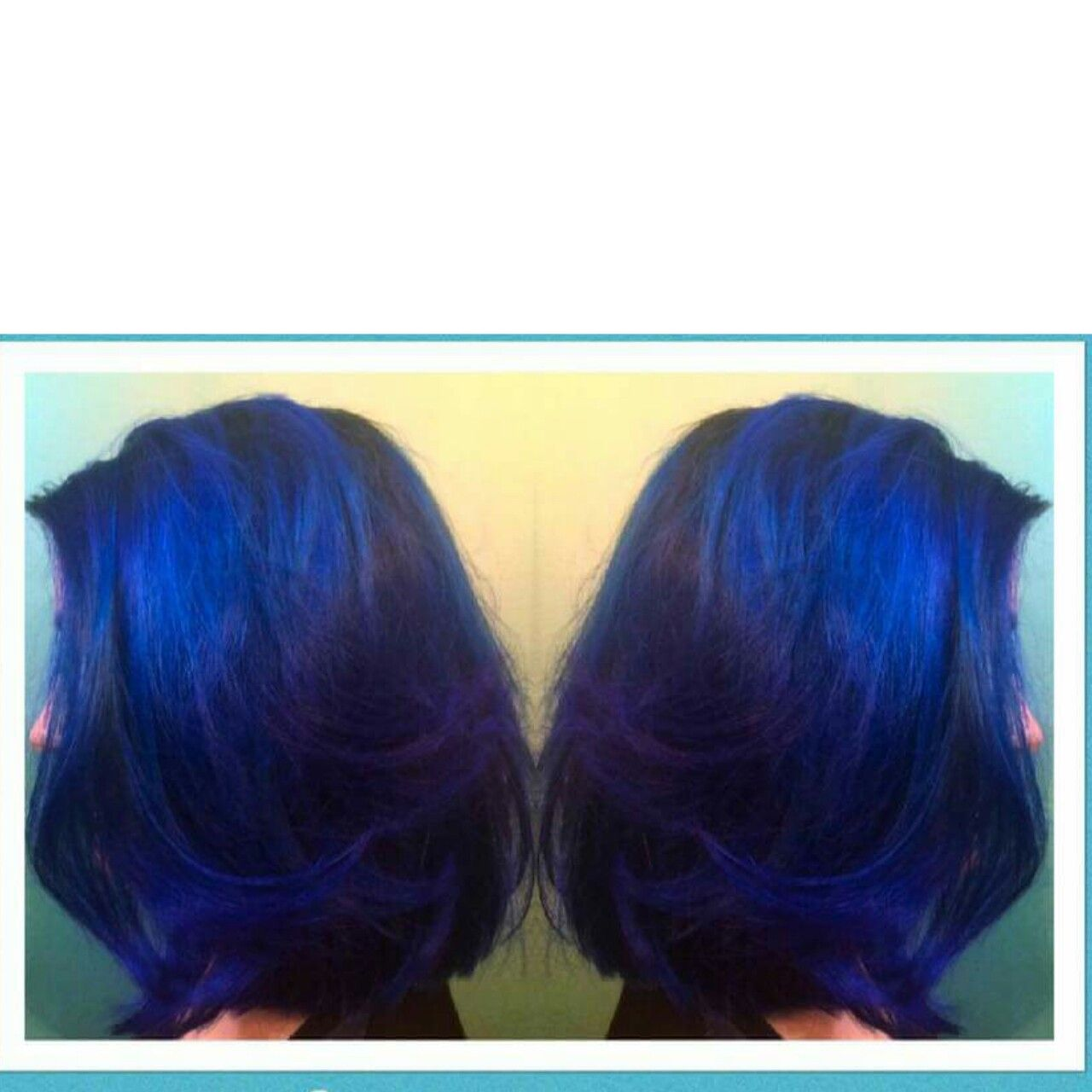 Vivid blue hair color done bytina sosville labella salon