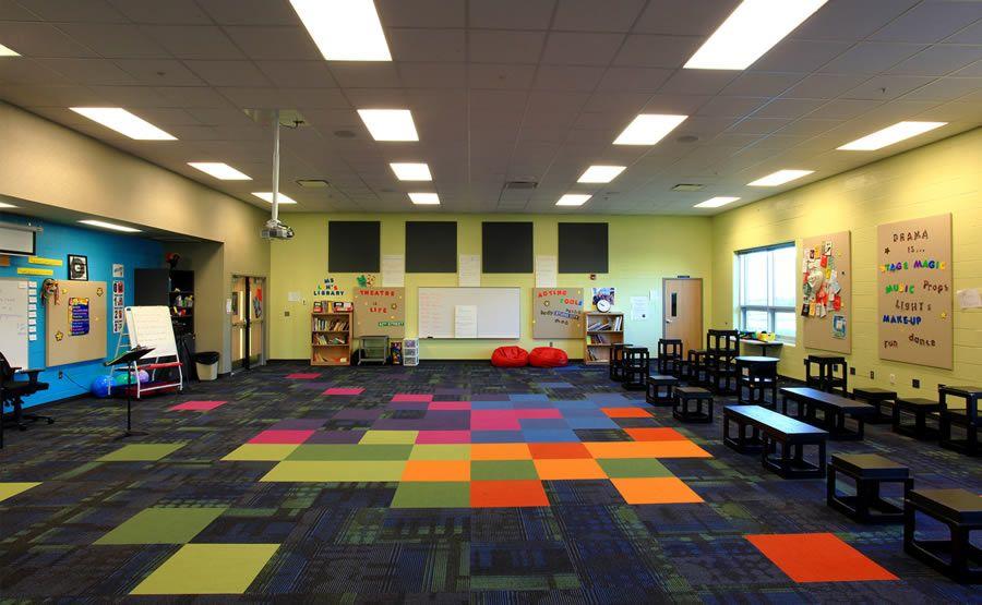 High School Elementary School Interior Classroom Classroom Design In 2019 Classroom Design