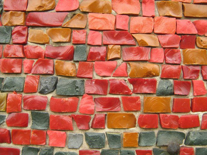 Colorful brick wall art design Download High