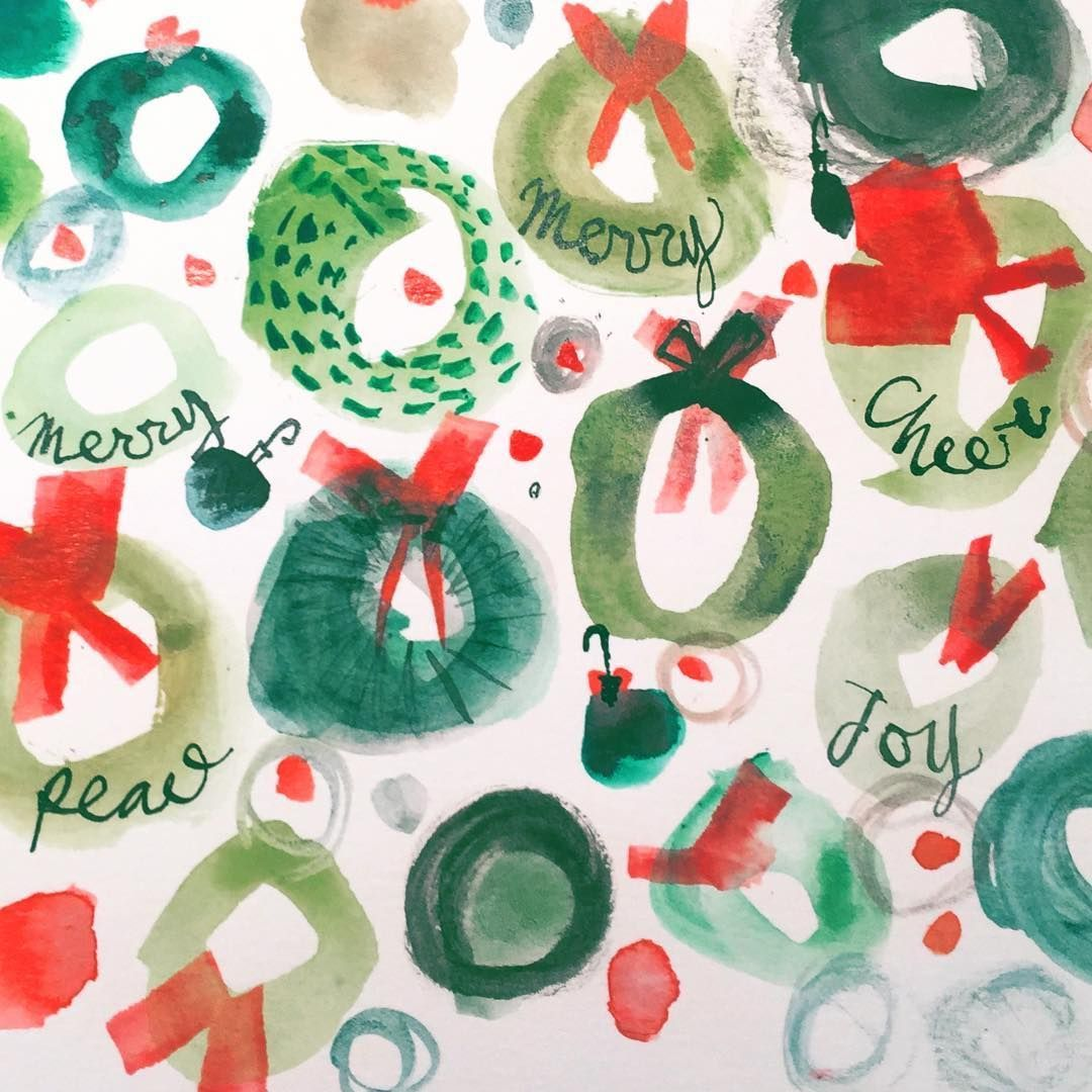"""Photo of Maria Carluccio on Instagram: """"Today's post: wreath doodles. #wreath #wreaths #christmaswreat…"""