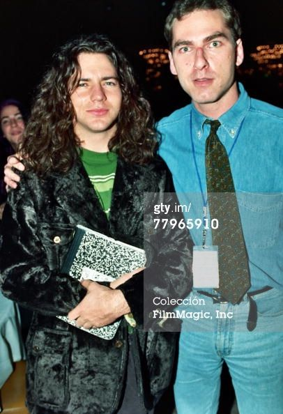 Eddie Vedder and Joel Gallen | I like the way Eddie looks all constipated.