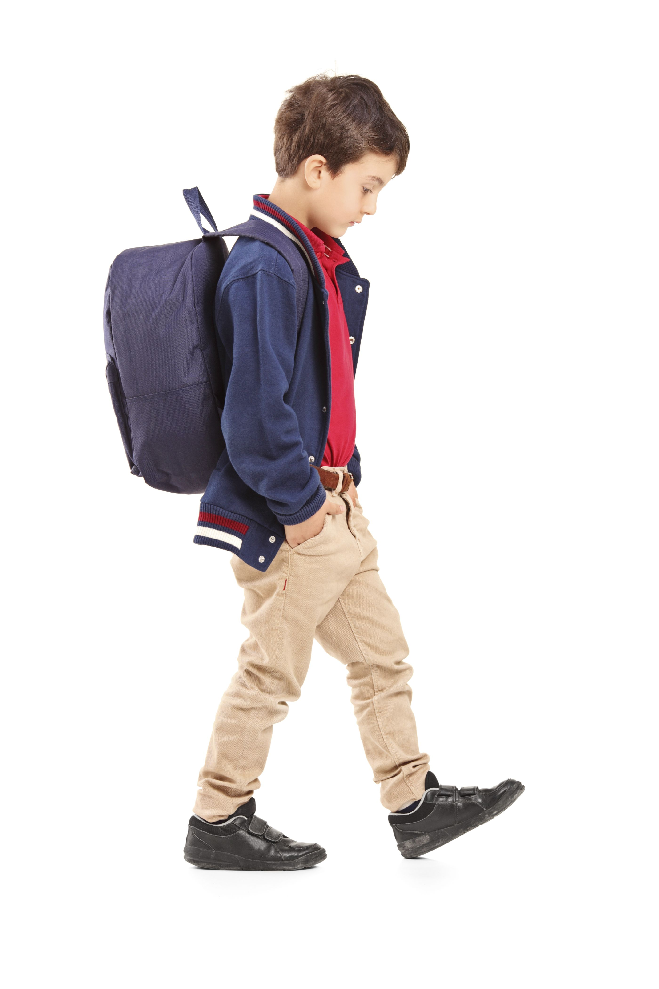 image result for child walking with backpack push penny