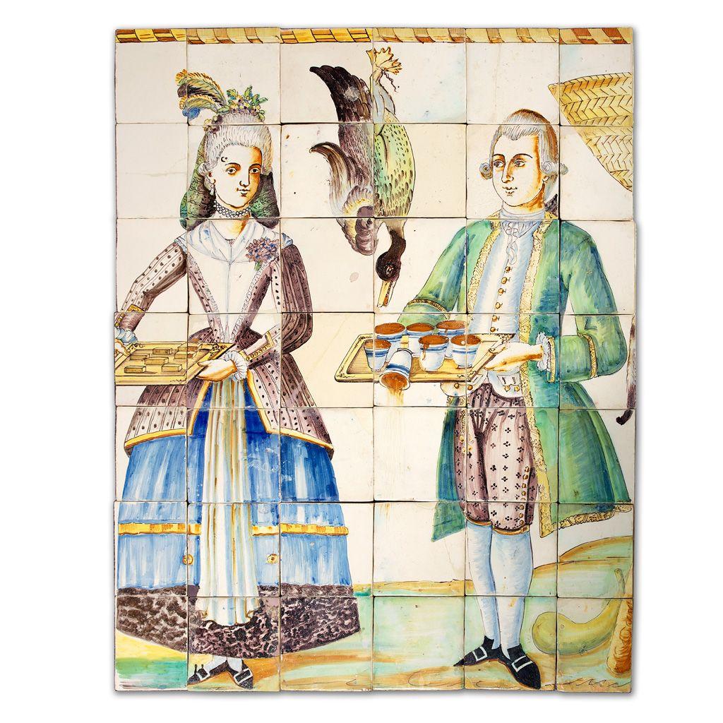 Museo nacional de cer mica panel de cocina de azulejos for Ceramica para cocina