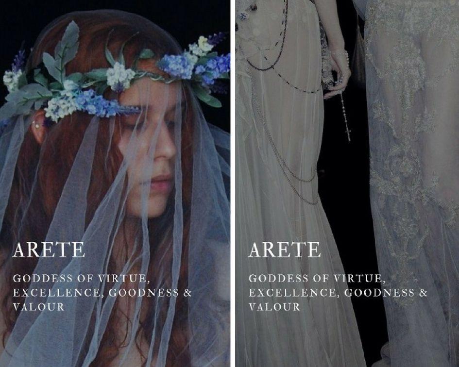 arete (Ἀρετή) - greek goddess of virtue, excellence