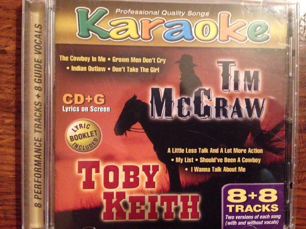 TIM McGRAW -TOBY KEITH KARAOKE CD&G 8+8 TRACKS LYRICS #CountryPop