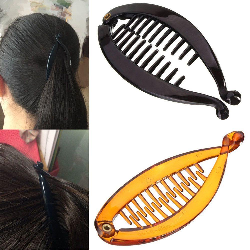 Twisted Design Plastic Hair Clip Hair Banana Clip Clamp Claw Grip for Women