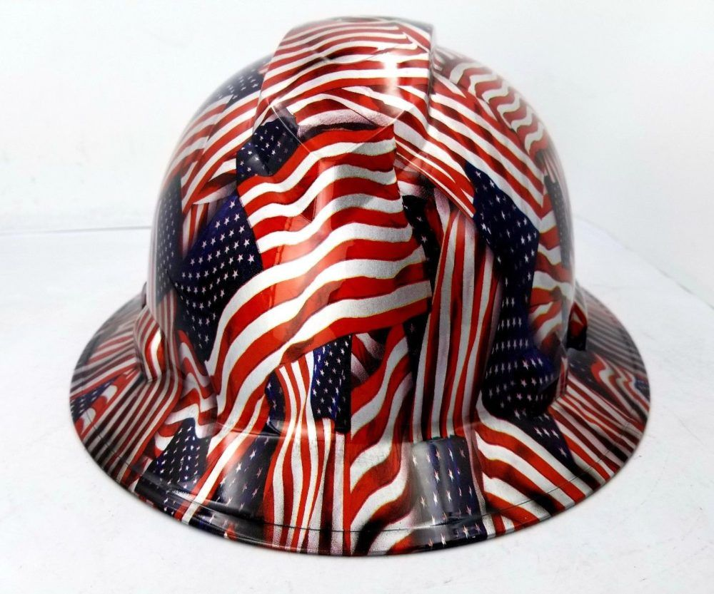AMERICAN FLAG Hydrographic Full Brim Safety Hard Hat Price