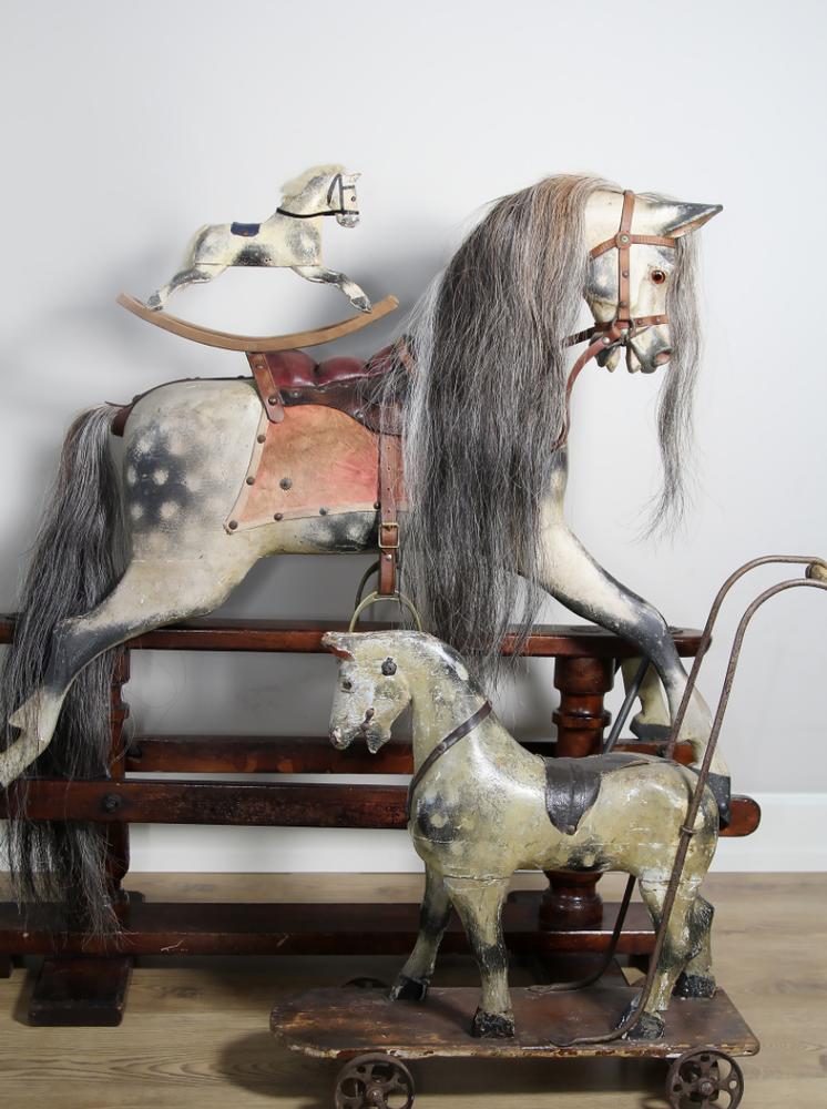 Старинные лошадки-качалки, фото № 6 в 2020 г   Винтажная ...