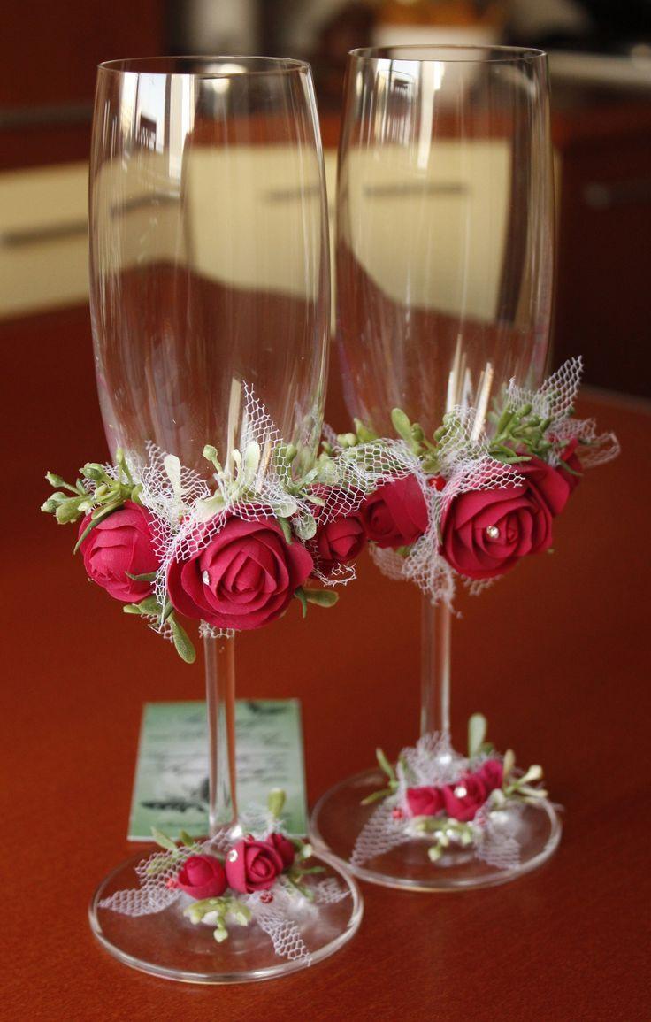 Clay Flowers Deco Polimernaya Glina Keramicheskaya Floristika Vlasova Yana Vk Com Club12056335 Ukrashennye Vinnye Bokaly Svadebnye Podelki Svadebnyj Nabor