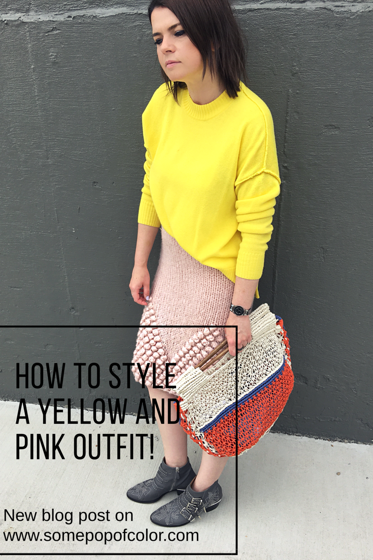 Current Obsession Metallics Blush Pink Skirt Colorful