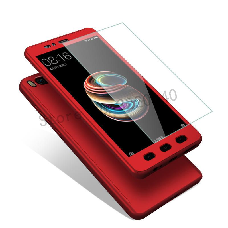 360 Degree Full Cover Case For Xiaomi Mi A1 5x Mia1 Case Phone Shell For Xiaomi Redmi Note 4 4x Pro Case For Redmi 4a With Glass Phone Shell Phone Cases Phone