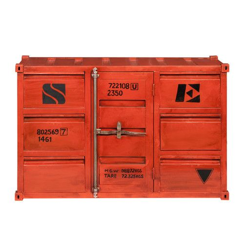 Metal container sideboard in red W 134cm | Star Mill | Pinterest ...