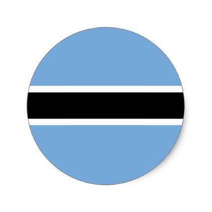 Botswana flag classic round sticker
