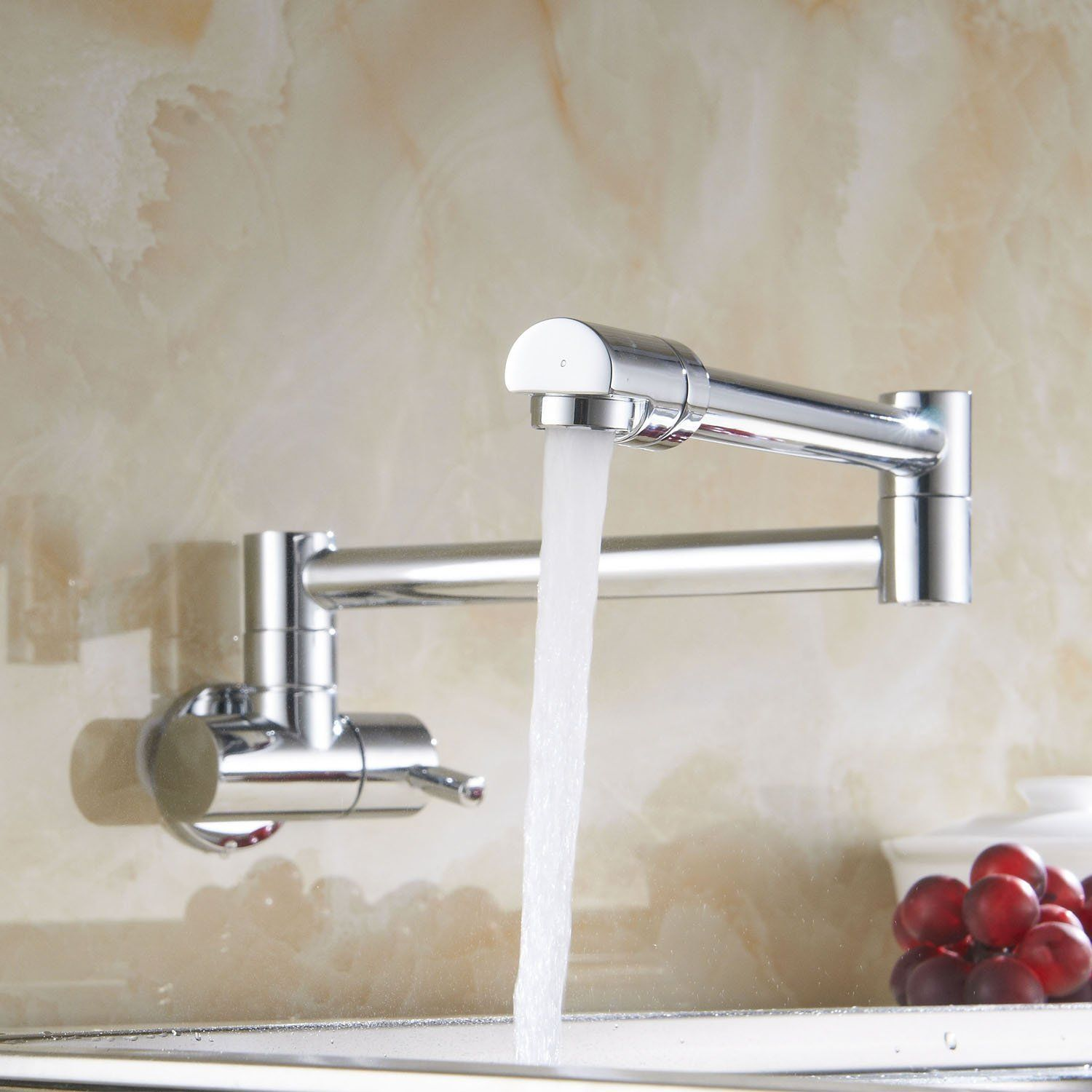 Outstanding Wall Mounted Kitchen Faucet For Best Kitchen