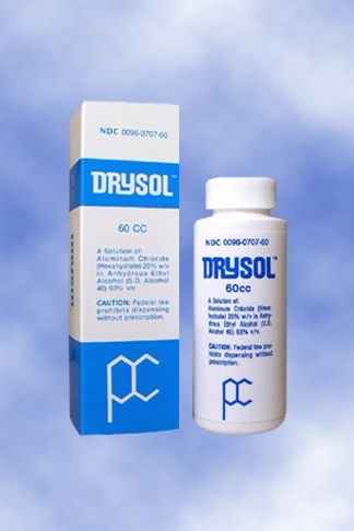 For severe sweating - Drysol (20% aluminum chloride)