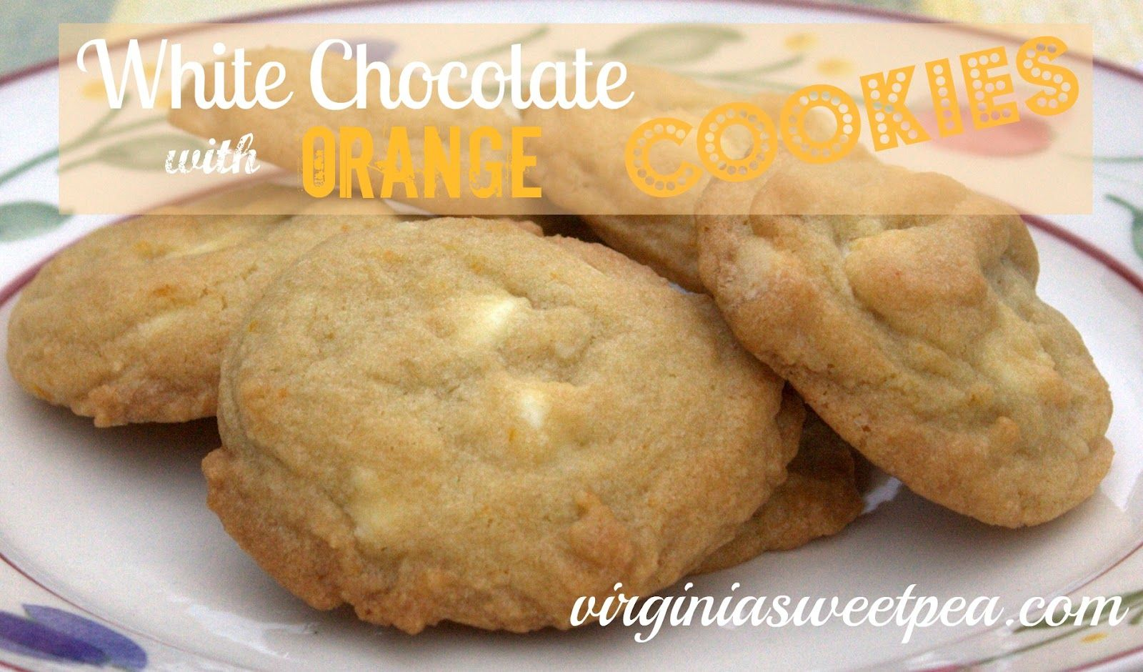 Sweet Pea: White Chocolate with Orange Cookies