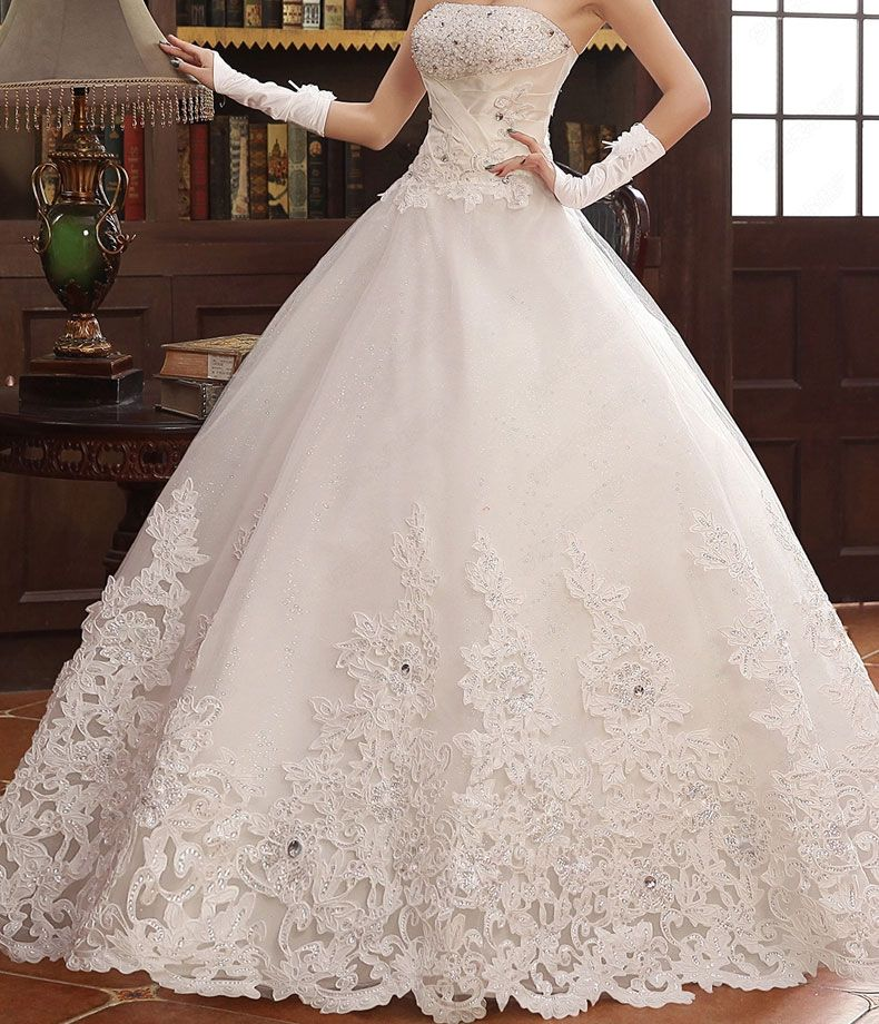 crystal ball gown wedding dress