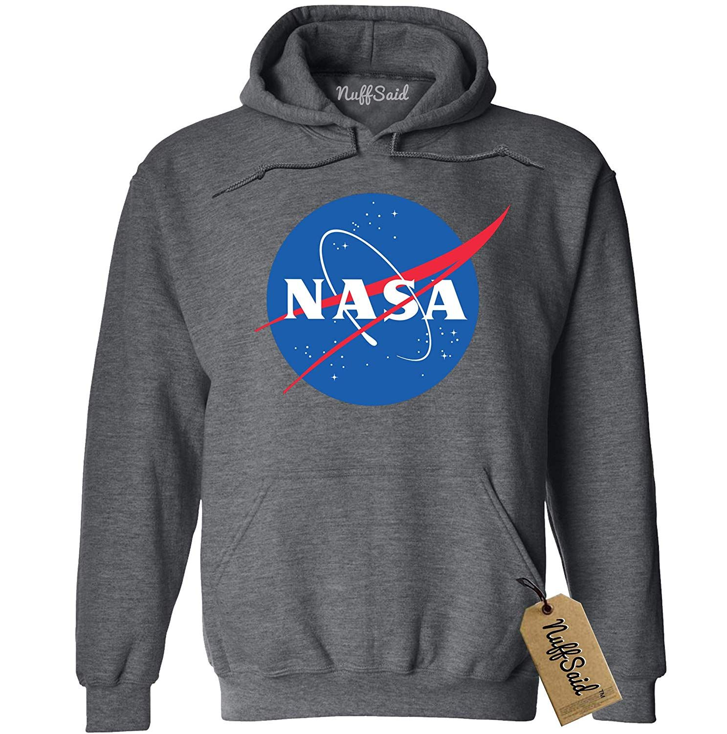 NuffSaid NASA Meatball Logo Worm Hooded