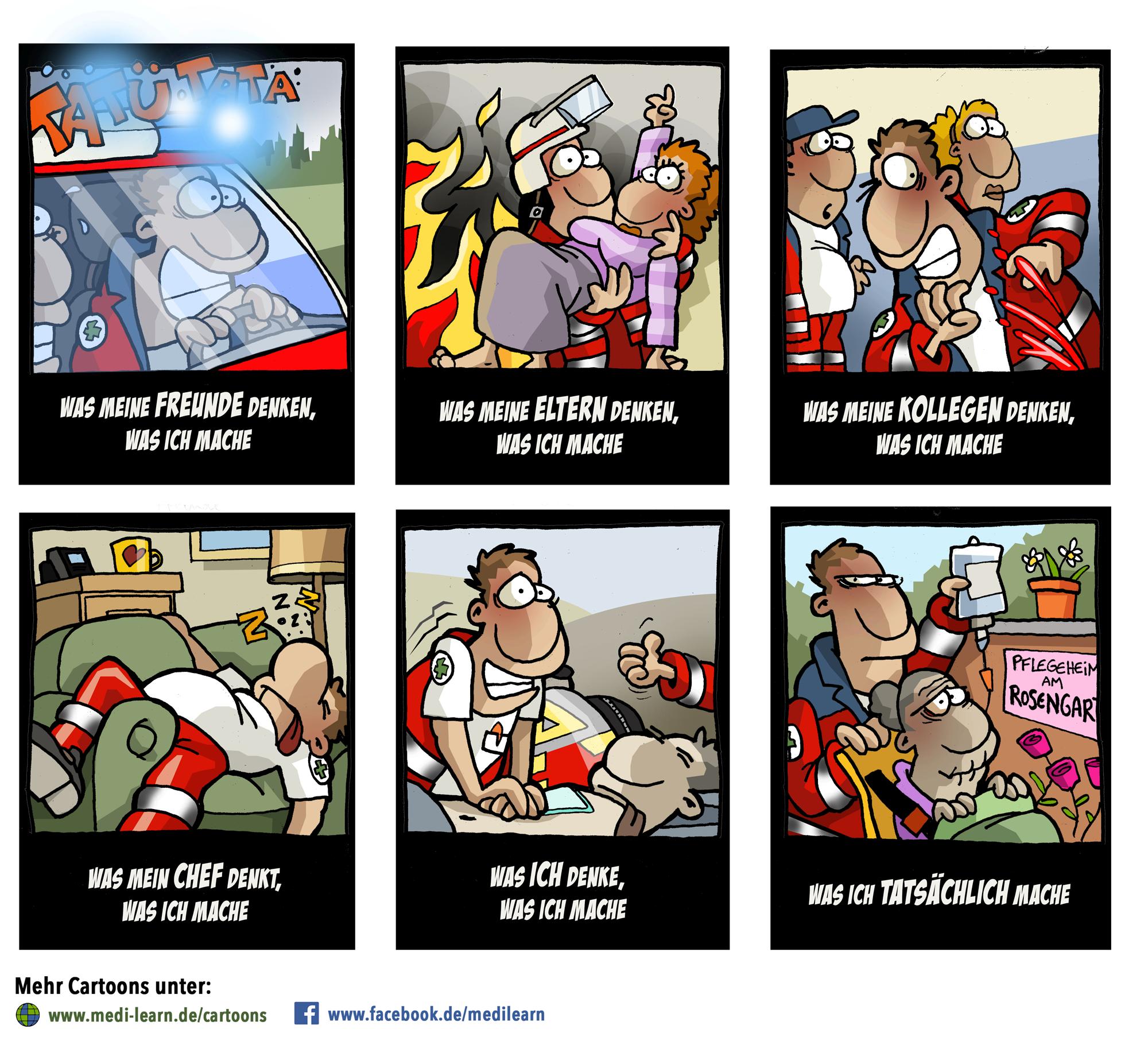 Was andere über den Rettungsdienst denken o0 | Spruch Cartoons ...