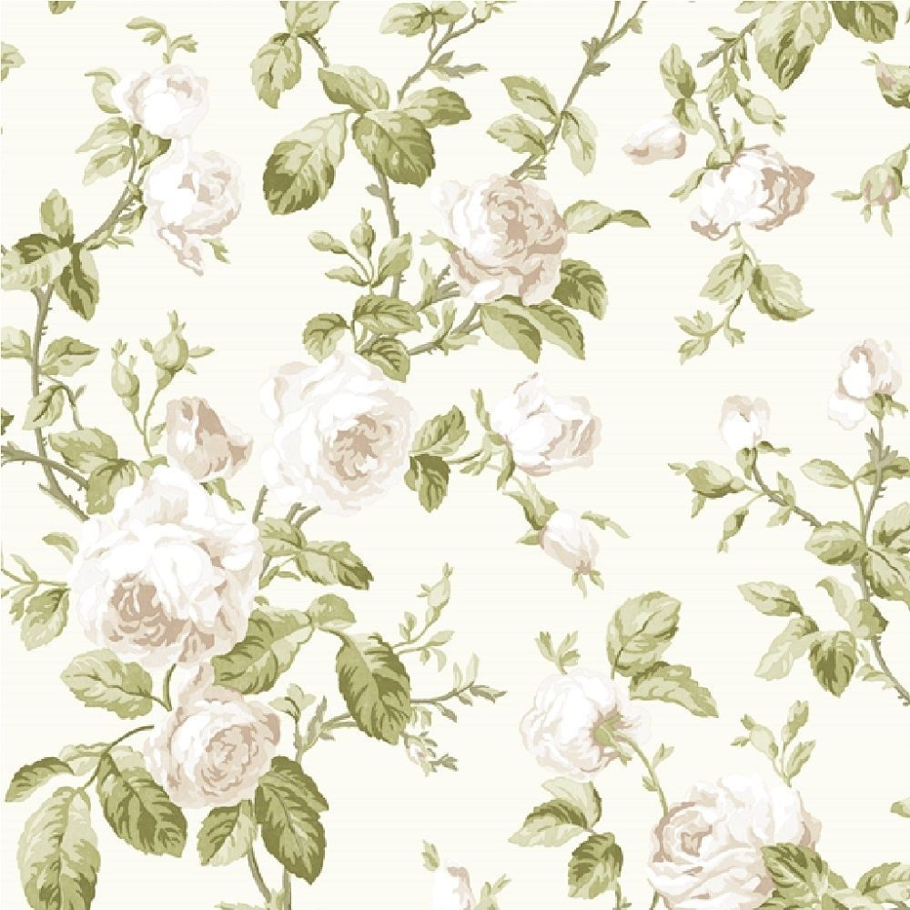Vintage Shabby Chic Wallpaper Floral Wallpaper Vintage Floral Wallpapers Brewster Wallpaper