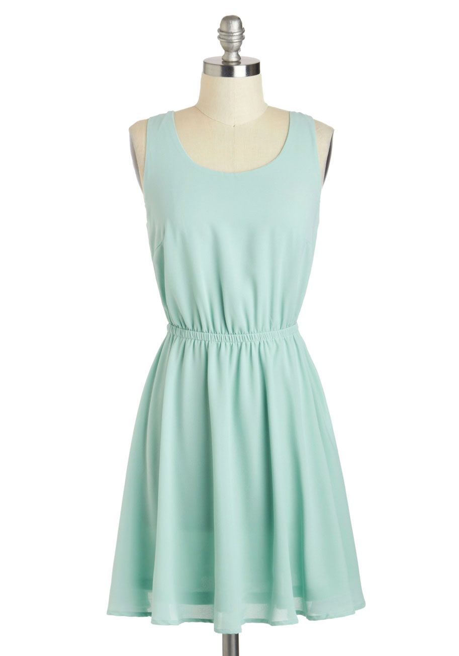 Fresh Foundation Dress - Short, Summer, Mint, Solid, Cutout ...