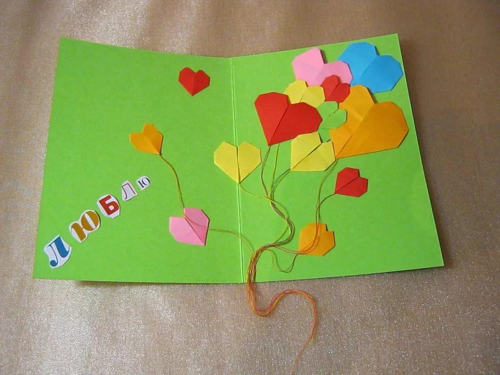 Самодельная открытка для мамы на день матери, лет