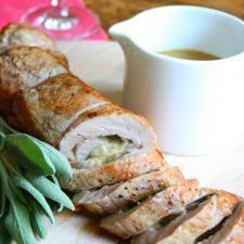 Comté, Dijon & Herb Stuffed Pork Tenderloin with Dijon Jus | Culture: the word on cheese