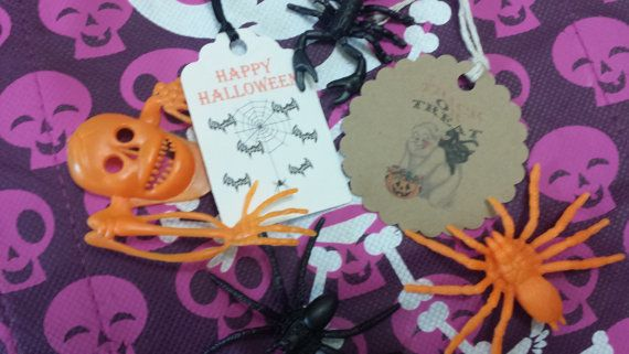 Halloween favor tags Etsy listing at https://www.etsy.com/listing/201352280/personalized-favor-tags-2-12-halloween