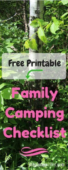 Family Camping Packing Checklist With Tent Tips