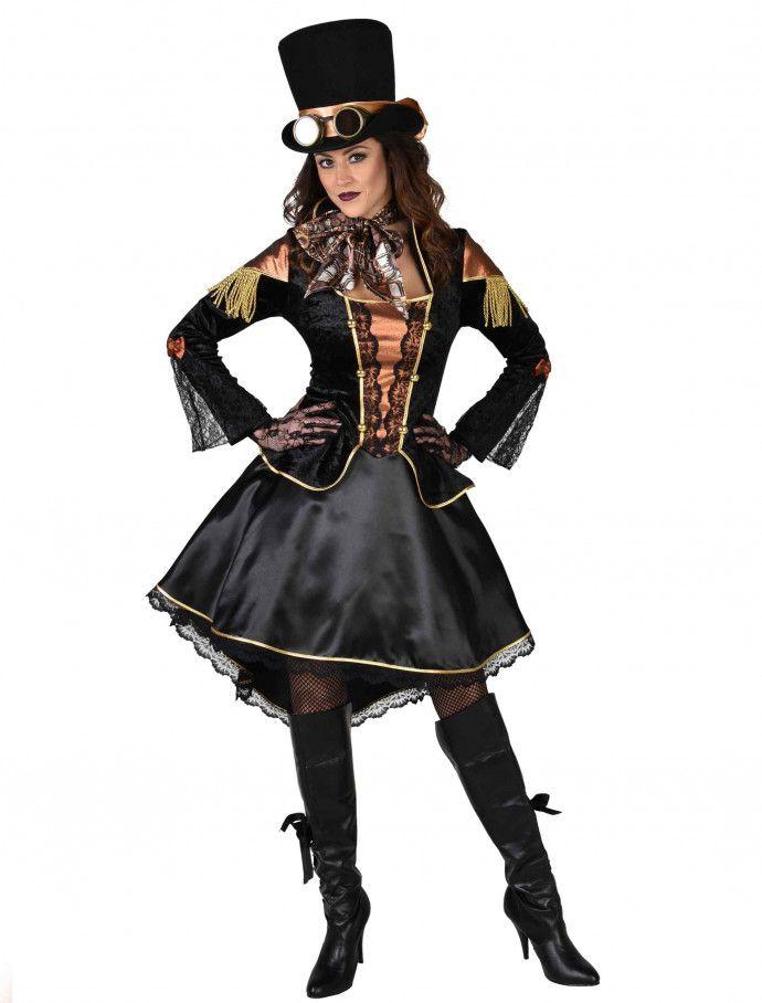 Kleid Steampunk Damen Schwarz Fur Halloween Deiters Kleid Kurz Rock Schwarz Braun Steampunk Viktorianis Fasnacht Verkleidung Modestil Kostume Fasnacht