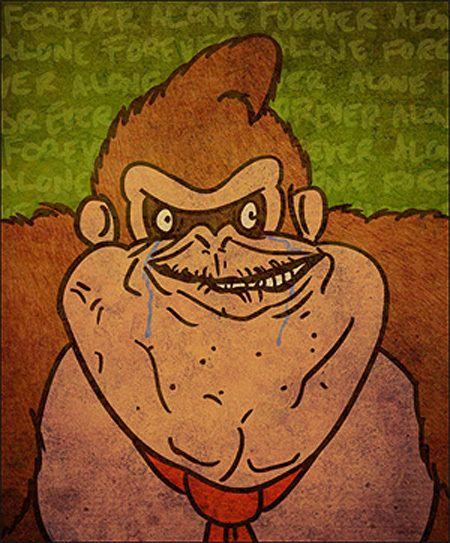 Super Mario Bros Troll Faces 6 Illustration Donkey Kong Donkey