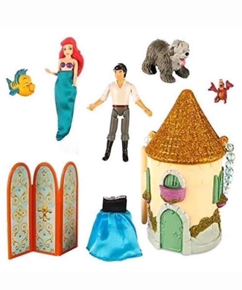 Ariel Mini Castle Playset Authentic Disney New In Box Ebay Mermaid Disney Disney Princess Palace Pets Disney