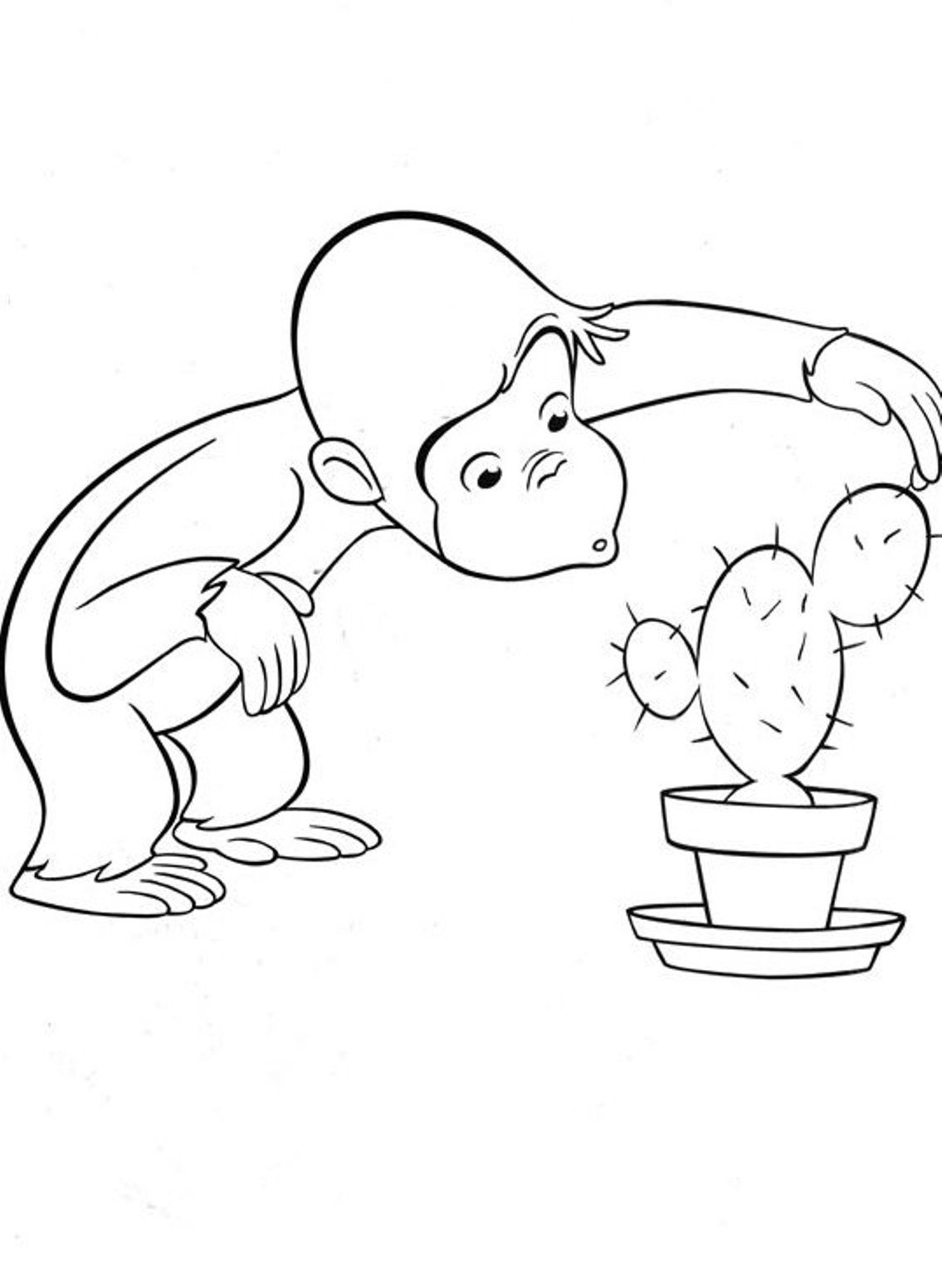 Dexterity Curious George Coloring Pages Printable Cartoon Coloring ...