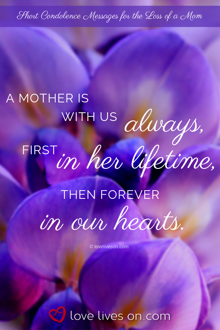 what to write in a sympathy card for loss of mother