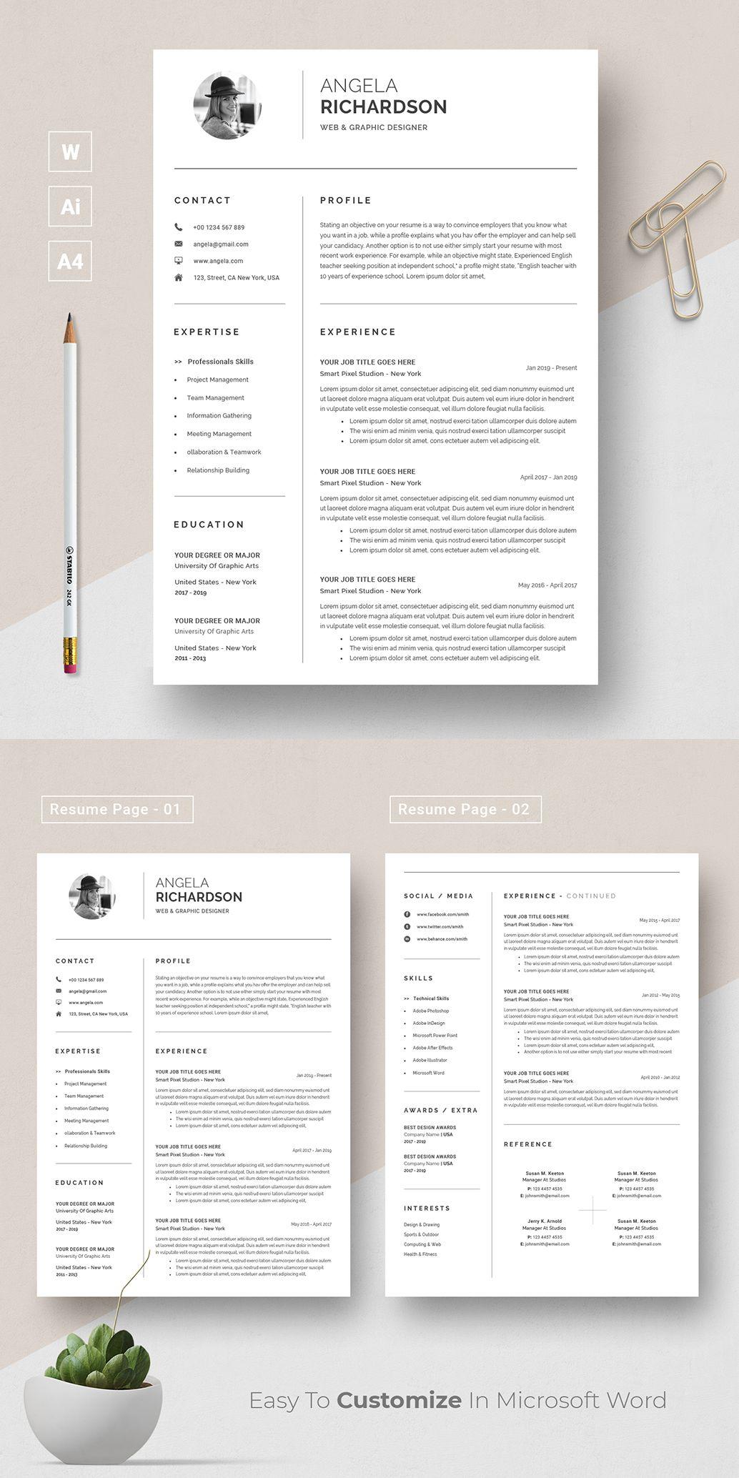 Modern Resume Template Resume CV Template