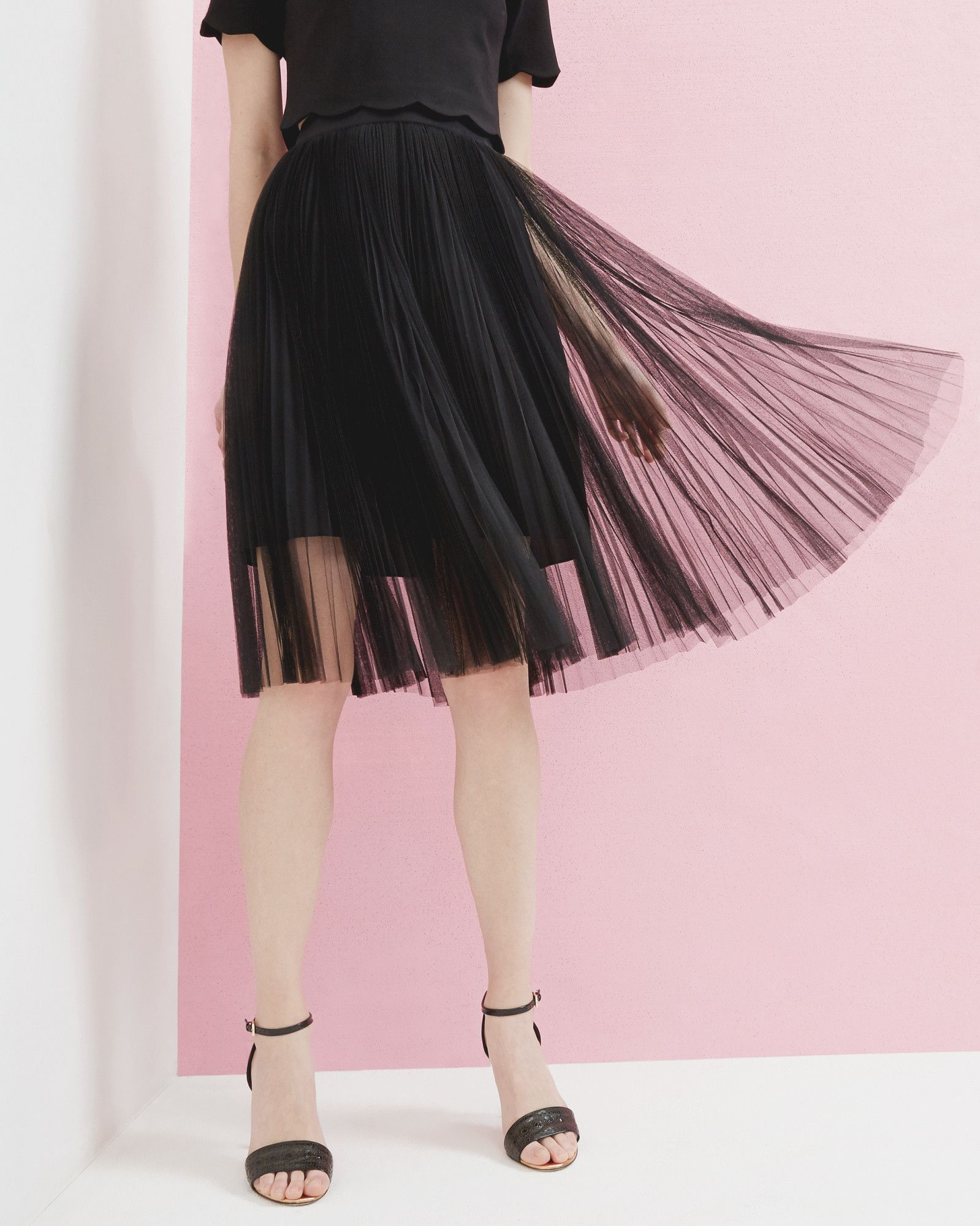 6f20522d3caa Ted Baker Filita Pleated Tulle Skirt