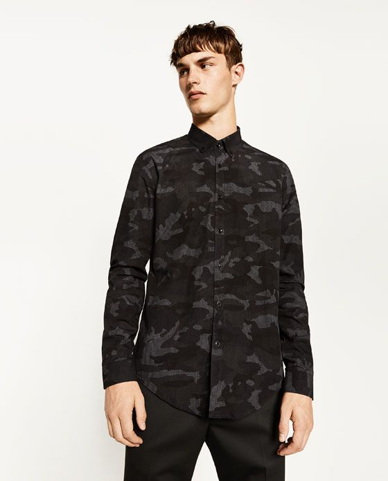Image 2 of CAMOUFLAGE DESIGN SHIRT from Zara