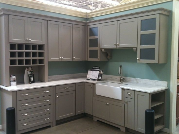 Martha Stewart Kitchen Cabinets Love The Gray And Apron