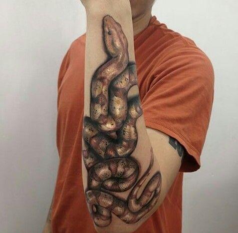 Serpiente Snake Lienso Canserbero Artista Yomico Moreno Tatuaje De Serpiente Canserbero Tatuaje Yomico Moreno