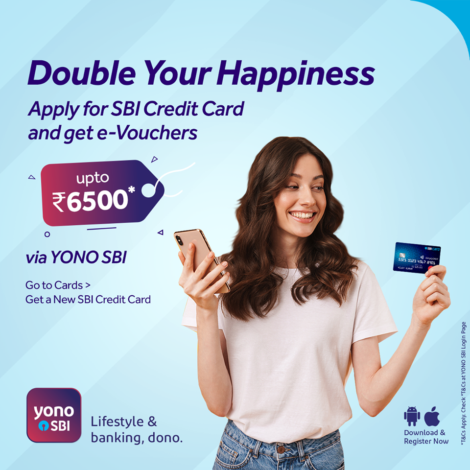 Apply For Sbi Credit Card And Get E Vouchers Upto Rs 6500 In 2020 How To Apply Credit Card Cards