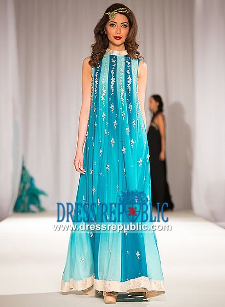 144adcca1d5 Pakistani Party Clothes in Blue at Pakistan Fashion Week 5 Buy Online  Pakistani Party Clothes in Blue Showcased at Pakistan Fashion Week 5 in  Canada.