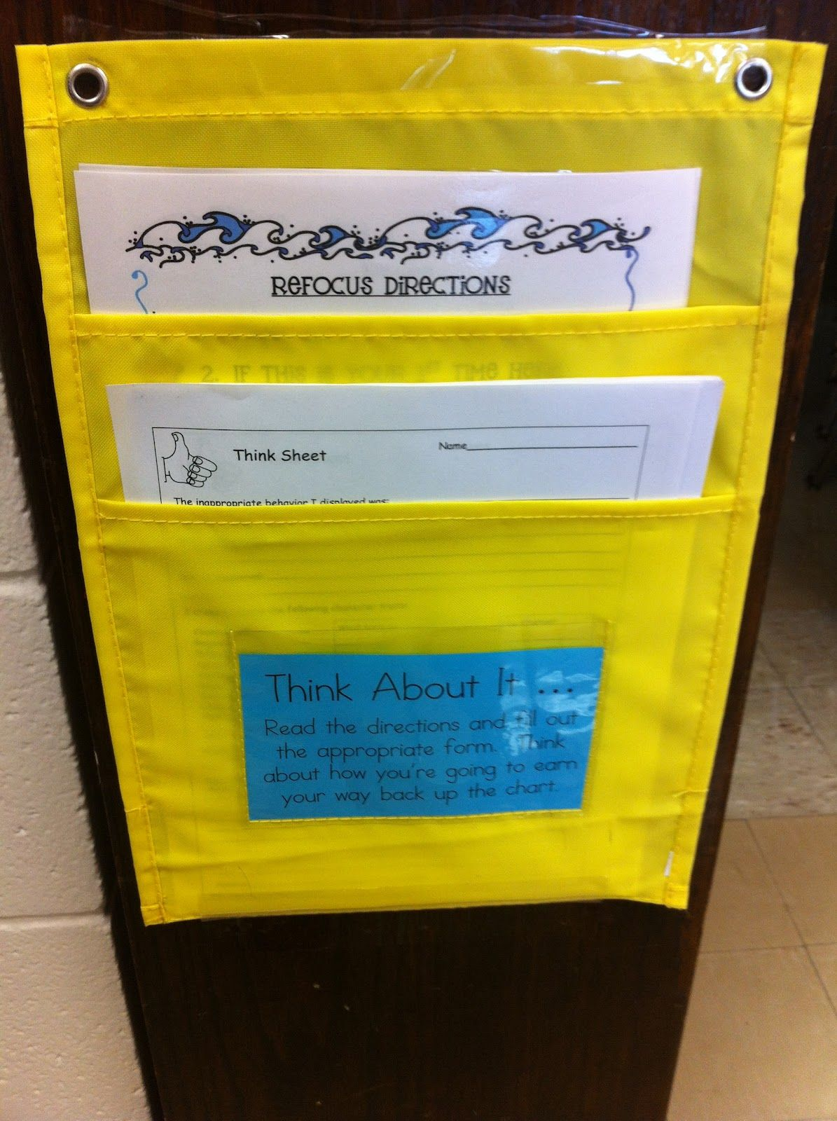Refocus Station For When Students Make Poor Choices I