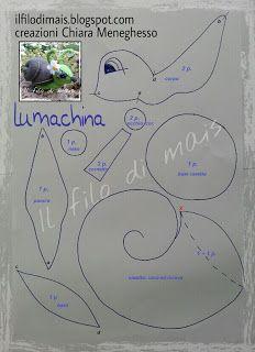 Il filo di mais di Chiara Gloria e Daniela: Tutorial con modello: La Lumaca