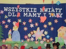Dzień Mamy I Taty Imprezy W Przedszkolu Dekoracje