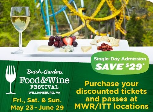 Busch Gardens Food And Wine Festival 2018 Dates