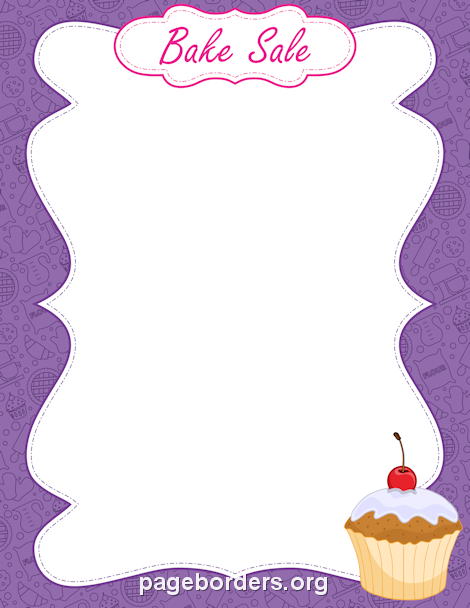 Printable bake sale border Use the border in Microsoft Word or – Ms Word for Sale