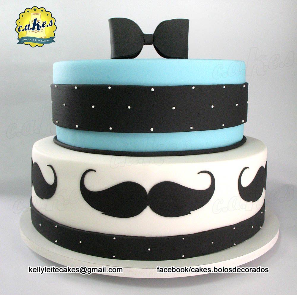Bolo Bigode Mustache Cake Cakes Bolos Decorados Pinterest